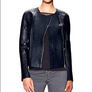 Maje Lamb Leather Moto Jacket